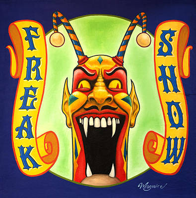 Juxtapose Painting - Freak Show by Molly McGuire