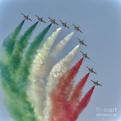 Frecce Tricolori At Dubai Air Show, Uae Art Print