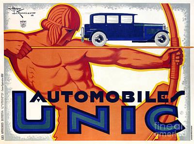 Antique Nudes Photograph - Frech Automobile Advertisement by Jon Neidert