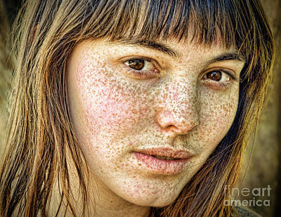 Photograph - Freckle Face Close Up IIi Color Version by Jim Fitzpatrick