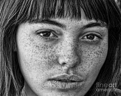 Photograph - Freckle Face Closeup II by Jim Fitzpatrick
