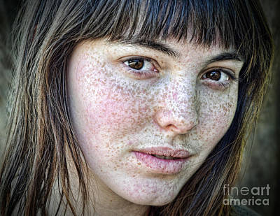 Photograph - Freckle Face Closeup Iv by Jim Fitzpatrick