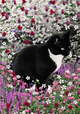 Animal Lover Digital Art - Freckles In Flowers II by Diane Clancy
