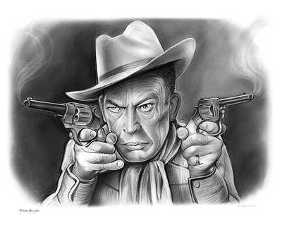 Drawing - Fred Allen by Greg Joens
