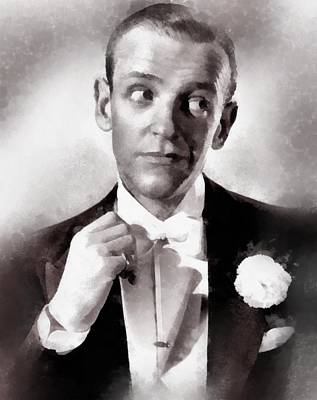 Television Painting - Fred Astaire By John Springfield by John Springfield