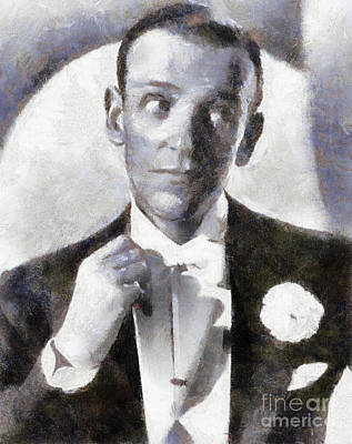 Astaire Painting - Fred Astaire By Sarah Kirk by Sarah Kirk