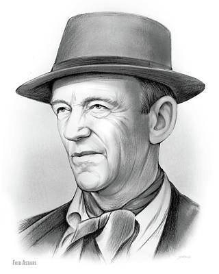 Drawings Royalty Free Images - Fred Astaire Royalty-Free Image by Greg Joens