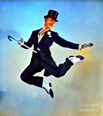 Singer Digital Art - Fred Astaire, Hollywood Legend. Digital Art By Mb by Mary Bassett