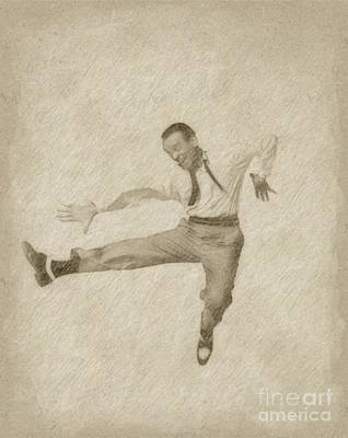 Fred Astaire Hollywood Legend Art Print by Frank Falcon
