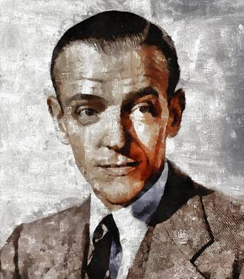 Elvis Presley Painting - Fred Astaire Hollywood Legend by Mary Bassett