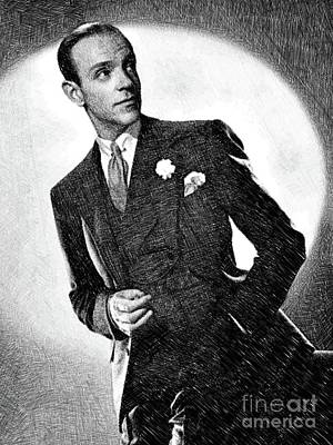 Musicians Drawings - Fred Astaire, Legend by JS by Esoterica Art Agency