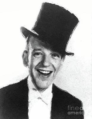 Musician Royalty-Free and Rights-Managed Images - Fred Astaire, Vintage Actor and Dancer by Mary Bassett