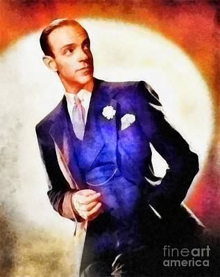 Astaire Painting - Fred Astaire, Vintage Hollywood Legend by Frank Falcon