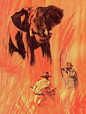 David Drawing - Fred Bear Archery Catalog Cover 1965 by Movie Poster Prints