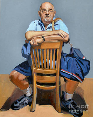 Southie Painting - Fred by Deb Putnam