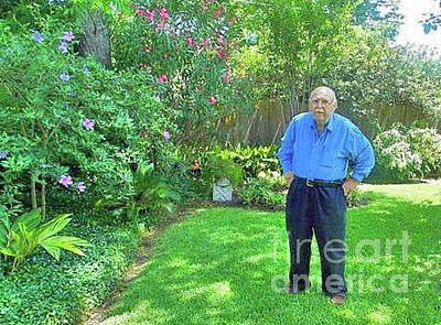 Photograph - Fred In His Garden. 2013. by Fred Jinkins