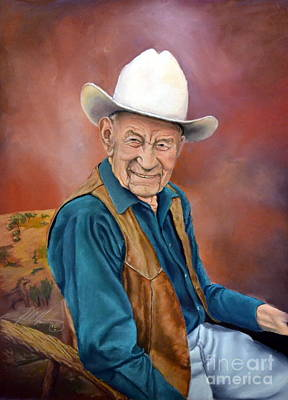 Fred Oldfield-the Last Of The Cowboy Artists Original