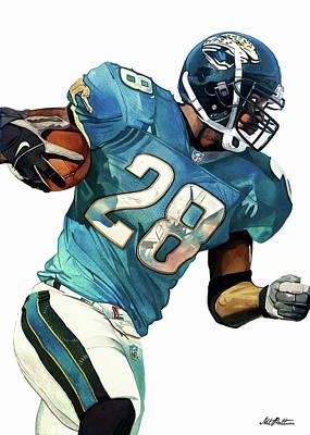 Fred Taylor Jacksonville Jaguars Art Print by Michael Pattison