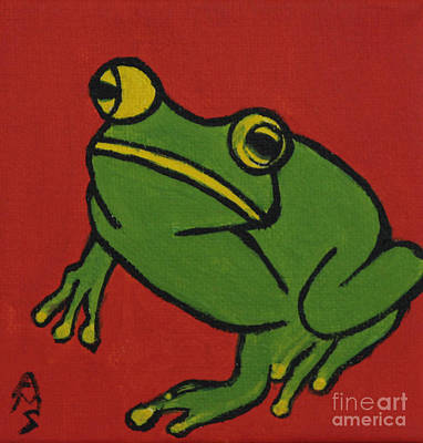 Painting - Fred The Frog by Annette M Stevenson