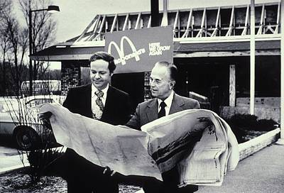 Mcdonald Photograph - Fred Turner And Ray Kroc The Executive by Everett