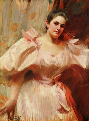 Painting - Freda Schiff by Anders Zorn