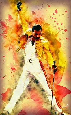 Digital Art - Freddie Forever by Kai Saarto