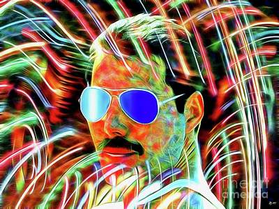 Mixed Media - Freddie In Color by Daniel Janda