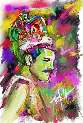 Lead Vocalist Painting - Freddie Mercury, Bohemian Rhapsody by Mark Tonelli