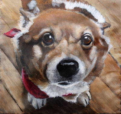 Dog Close-up Painting - Freddie Mercury by Carol Russell