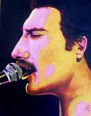 Painting - Freddie Mercury - Daffodil by Anne Gardner