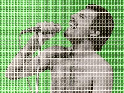 Freddie Mercury - Green Original by Gary Hogben