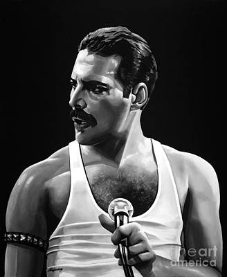 Superstar Mixed Media - Freddie Mercury  by Meijering Manupix