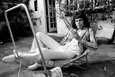 Print featuring the photograph Freddie Mercury Of Queen 1975 #3 by Chris Walter