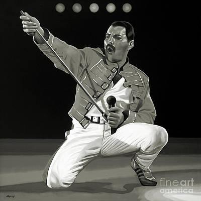 Superstar Mixed Media - Freddie Mercury Of Queen by Meijering Manupix