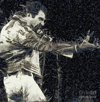 John Wayne Digital Art - Freddie Mercury, Queen by Mary Bassett
