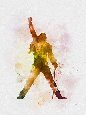 Icon Mixed Media - Freddie Mercury by Rebecca Jenkins