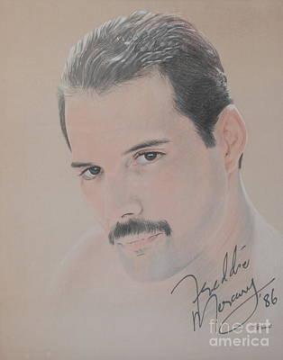 Freddie Mercury Signed  Art Print by John Sterling