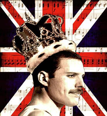 Freddie Mercury Art Print by Valentina Hramov