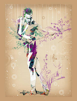 Queen Digital Art - Freddie Mercury Vintage 3 by Bekim Art