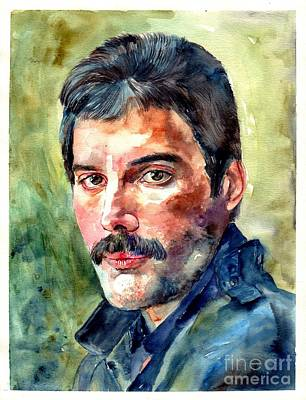 Freddie Mercury Watercolor Original