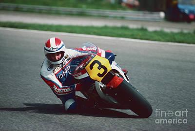 Photograph - Freddie Spencer. 1983 Nations Motorcycle Grand Prix by Oleg Konin