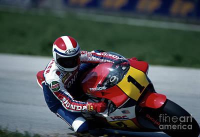 Photograph - Freddie Spencer. 1984 Nations Motorcycle Grand Prix by Oleg Konin