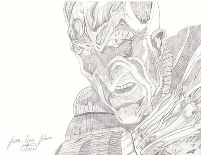 Nightmare On Elm Street Drawing - Freddy Krueger by Jessica Artman