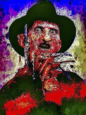 Mixed Media - Freddy Krueger by Al Matra
