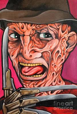Nightmare On Elm Street Painting - Freddy Kruger by Dan Gee