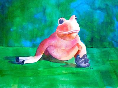 Art Print featuring the painting Freddy The Frog by Sharon Mick