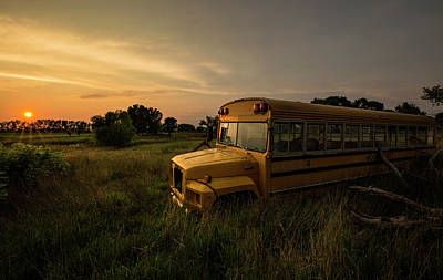 School Bus Photograph - Freddy's Revenge  by Aaron J Groen