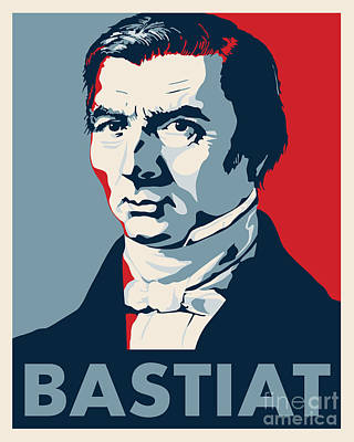 Libertarian Party Drawing - Frederic Bastiat by John L