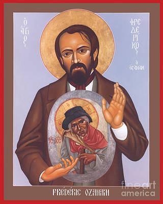 Painting - Frederic Ozanam - Rlfro by Br Robert Lentz OFM