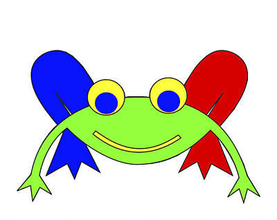 Frederic The Frog Art Print by Asbjorn Lonvig
